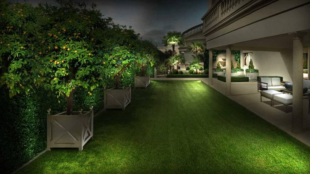 Progettazione giardino all'italiana