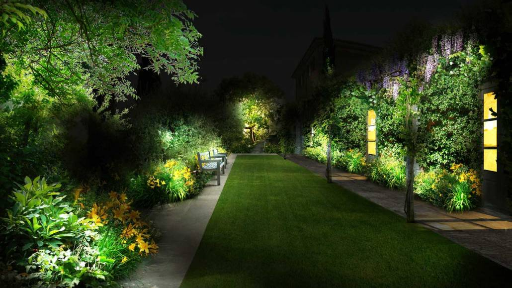 Progettazione giardino country