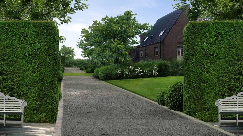Progettazione giardino geometrico
