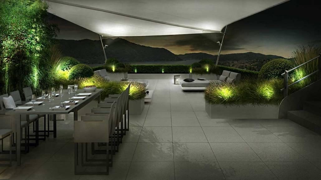 Progettazione terrazza lago di Como