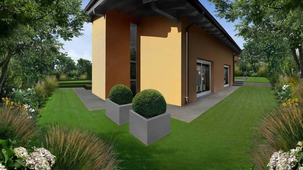 Progettazione giardino per villa
