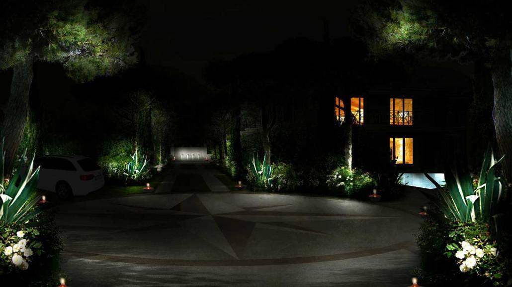 Progettazione giardino romano