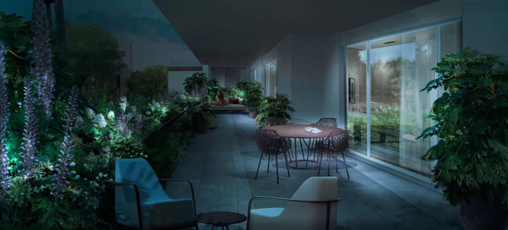 Giardino sulla terrazza a Vigevano